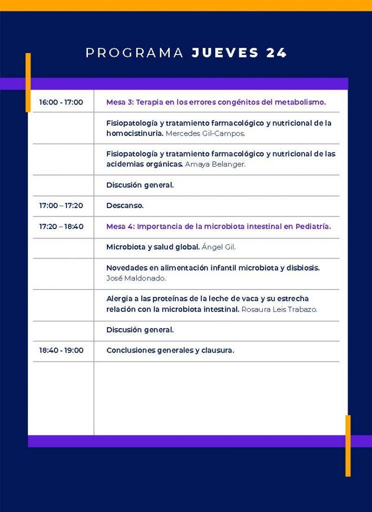Programa jueves VII CURSO FINUT AVANCES NUTRICIÓN PEDIÁTRICA