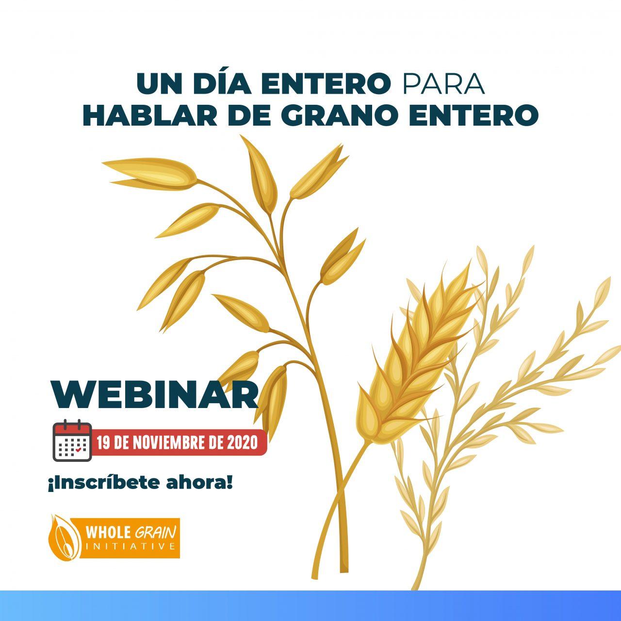 Semana del grano entero: Nuevo webinar, nueva temática. 19 de noviembre. Gratis