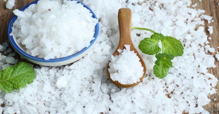 Pile of white salt
